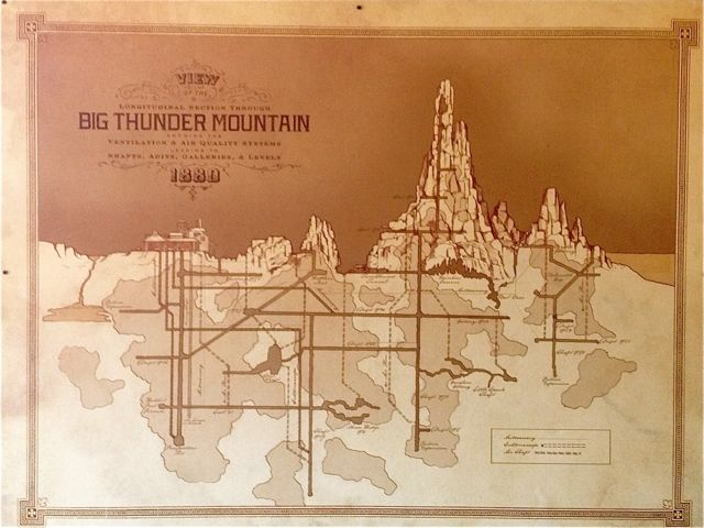 The underground world of Big Thunder Mountain comes alive in this depiction of its caves and shafts. Photo by J. Jeff Kober.