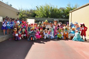 This is one of the few times ever an entire character group photo was taken of those in the parade.