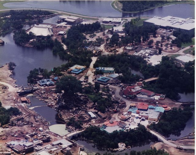 Disney's Animal Kingdom under construction. Photography by Steven Smith.