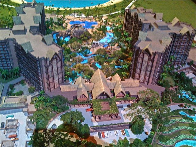 Aulani in model form at one point during its development.