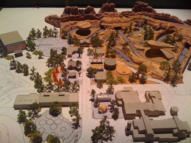 A model of Radiator Springs showcased at D23. I wonder what version this design was at?