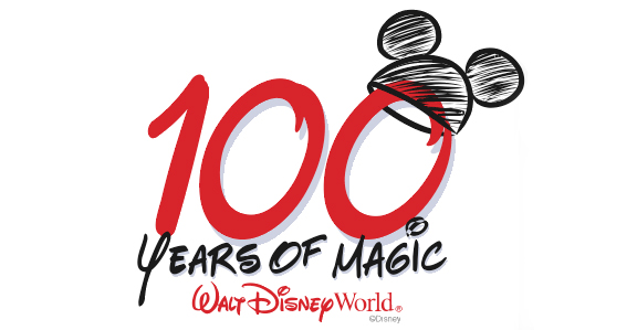 Logo for 100 Years of Magic Celebration that occurred in the Disney parks.