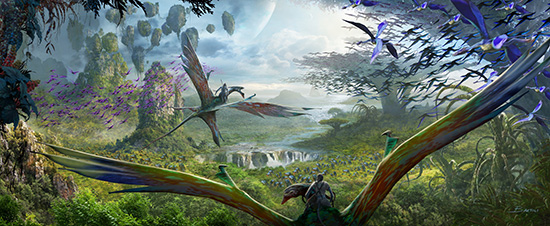 Guests WIll Discover What it Feels Like to Soar into the Sky Riding a Banshee When AVATAR Comes to Disney's Animal Kingdom at Walt Disney World Resort.