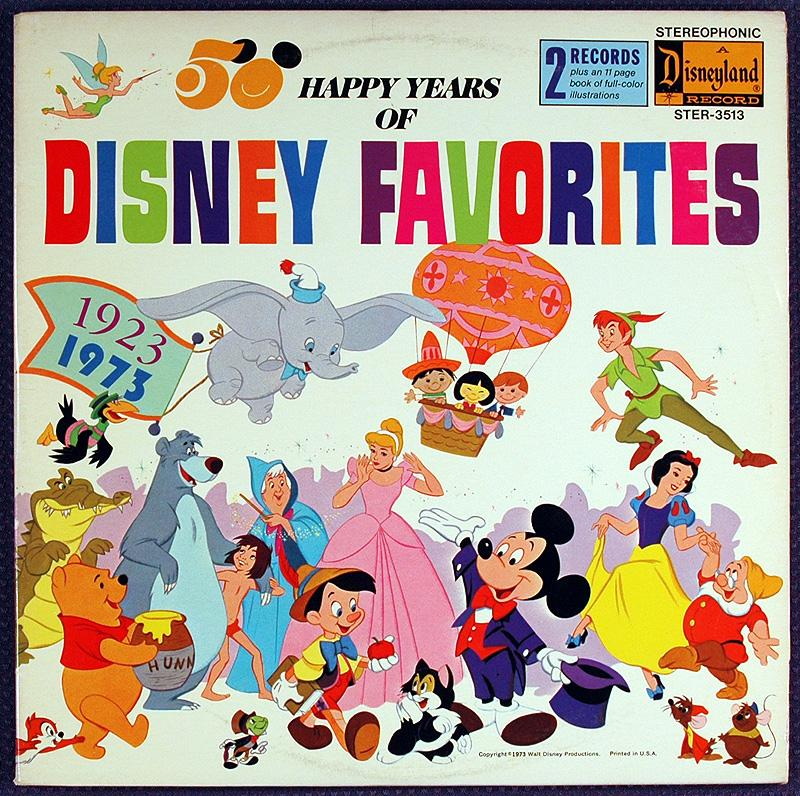 Disneyland Records 2 LP album, 50 Happy Years of  Disney Favorites