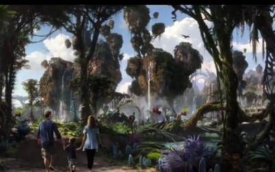 Here is what the land of Pandora will look like during the day...