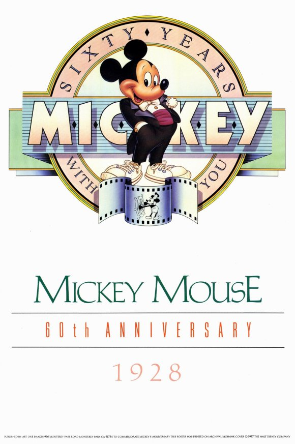 Poster celebrating Mickey's 60th anniversary.