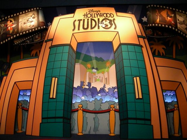 The old archway set at Disney's Hollywood Studios.
