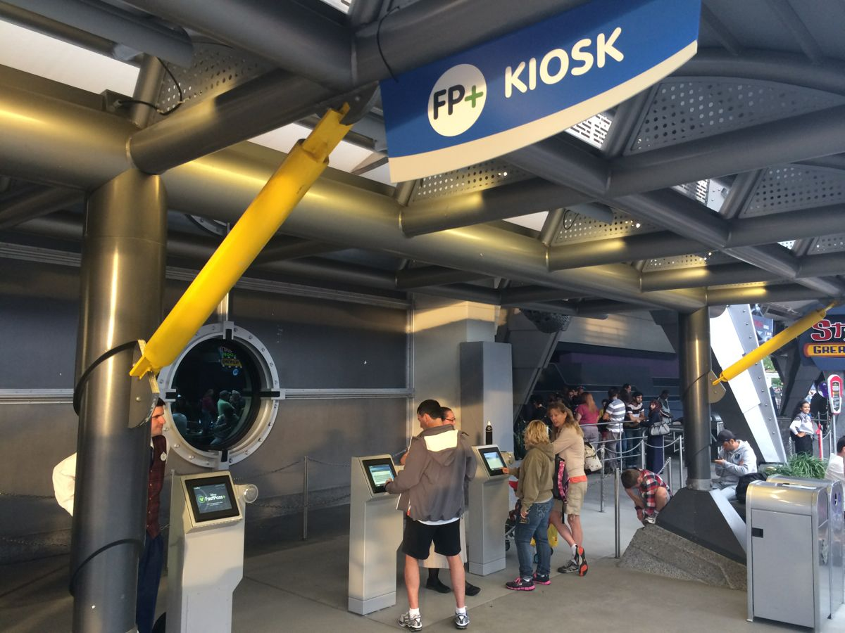 New kiosks for FastPass+. Photo by J. Jeff Kober.