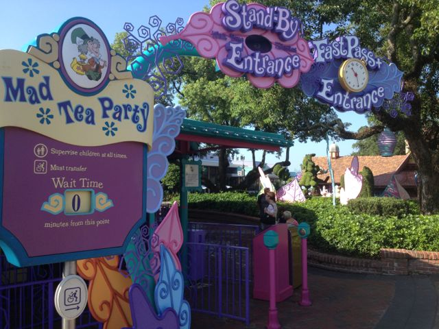 FastPass+ provided on the Mad Tea Party. Photo by J. Jeff Kober.