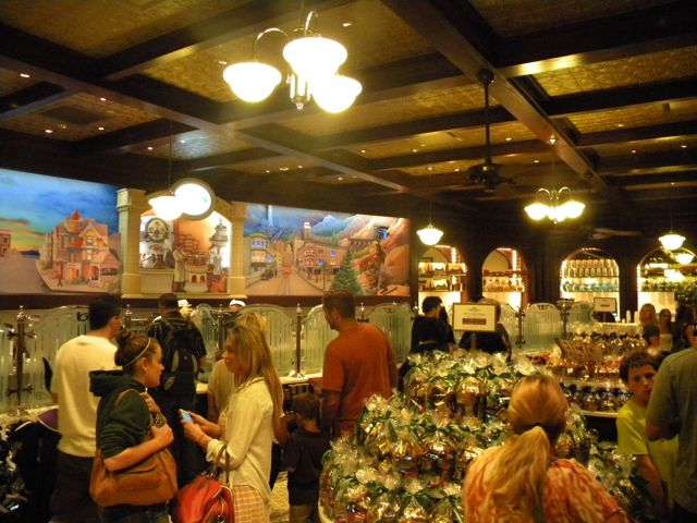 Guests always seem to gravitate to Ghirardelli at Disney California Adventure. Photo by J. Jeff Kober