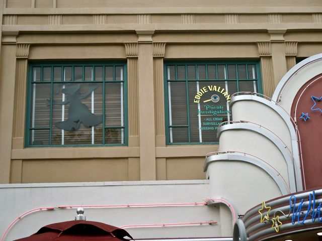 "Roger Rabbit bursts through the window of Eddie Valiant's office. Learn how ""Who Framed Roger Rabbit""   ended up ""Bumping the Lamp"" for the Walt Disney Company. Photo by J. Jeff Kober."