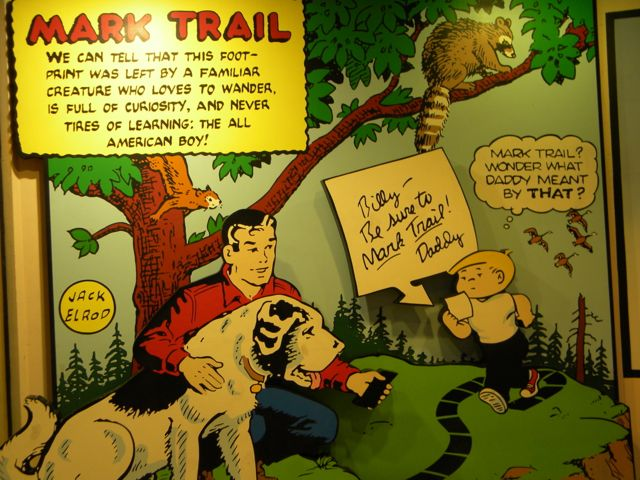 Mark Trail and Family circus Share the Same Trail Here at Toon Lagoon.