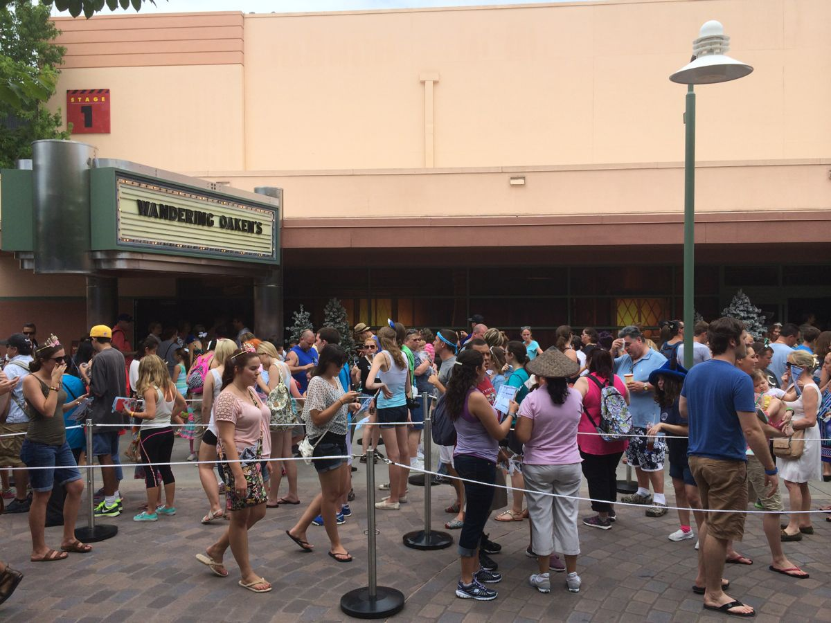 It looked no different in terms of the number of people waiting when it was Star Wars Weekends. Photo by J. Jeff Kober.