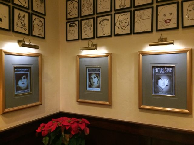 Head to the Brown Derby right now and you won't see these three framed magazine covers. They've been covered up with different photos until this system is released to Guests. But during the few days they were up, the date would change to the current one, but in the year 1933. I would assume your photo would come up as a black and white image in these pictures. Photo by J. Jeff Kober.