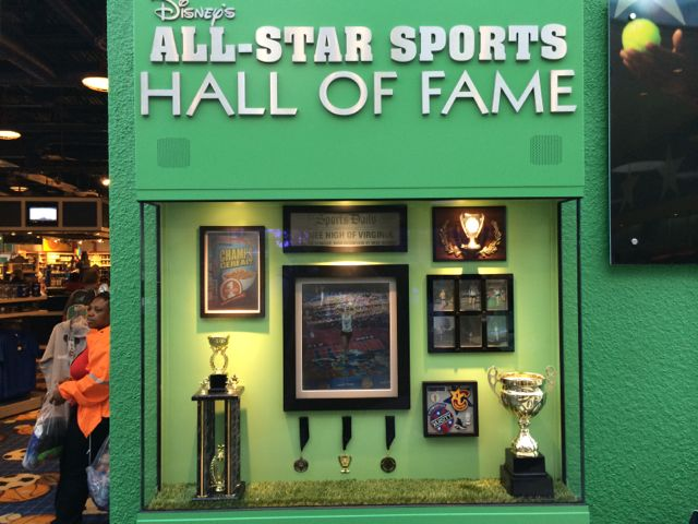 Even the resorts carry this activity. This Hall of Fame exhibit has nothing to do with athletic stars of the past. It is a photo capture moment for MyMagic+. Photo by J. Jeff Kober.