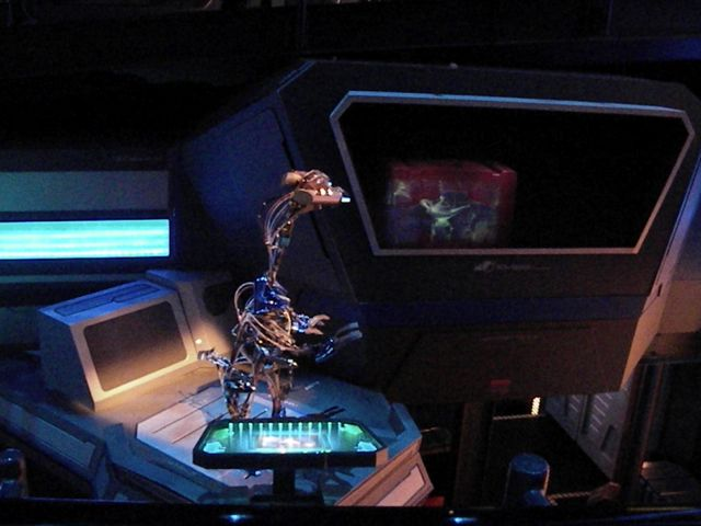Here Aladdin's lamp is being scanned. Photo by J. Jeff Kober.