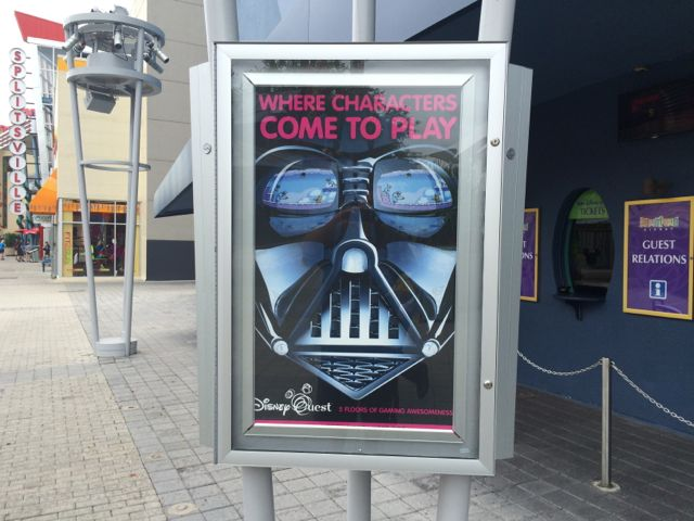 I could see Buzz Lightyear or Pirates of the Caribbean advertised here, but Star Wars? Photo by J. Jeff Kober