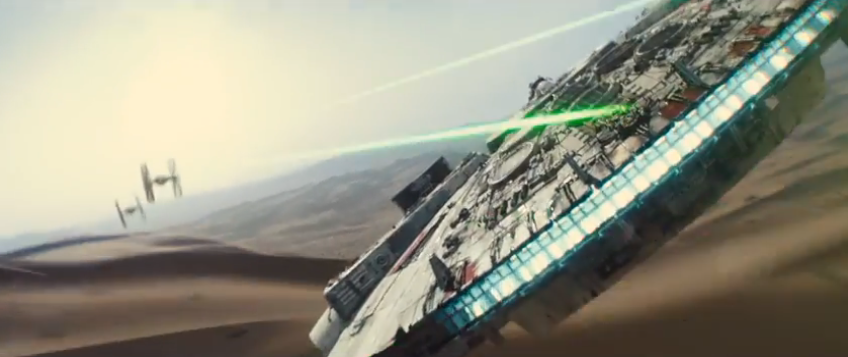 """There has been an awakening. Have you felt it?"" From the first trailer of the new Star Wars: Episode VII-The Force Awakens."