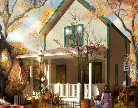 An artist's depiction of what the home will look like when it is lovingly restored.