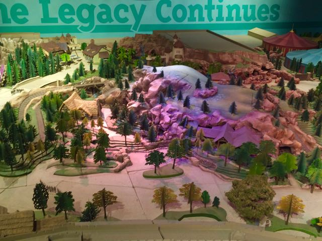 "Previous exhibits like this one for the New Fantasyland would give you the sense that this space could easily be adapted to a ""Blue Sky"" exhibit for everything being created at the park. Photo by J. Jeff Kober."