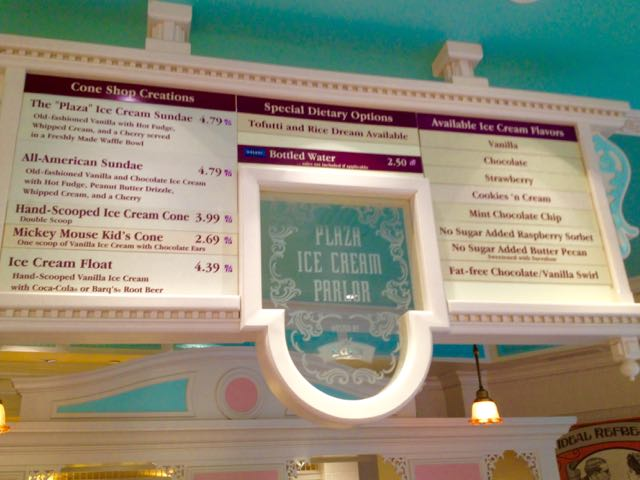 Plaza Ice Cream Parlor at Magic Kingdom, Walt Disney World. Photo by J. Jeff Kober.