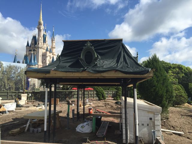 The area between Cinderella Castle and Tomorrowland is still being refurbished. This will likely provide a