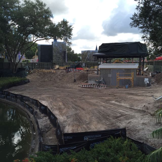 The same kind of construction is happening between Adventureland, Liberty Square and the Central Plaza. Photo by J. Jeff Kober.
