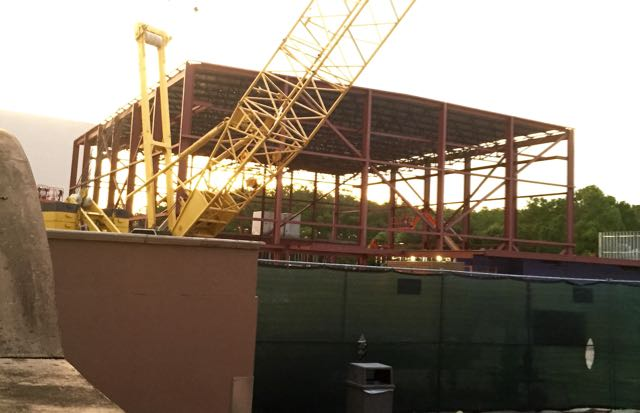 The new Premiere Theater going in next door to Rock 'n' Roller Coaster. Photo by J. Jeff Kober.