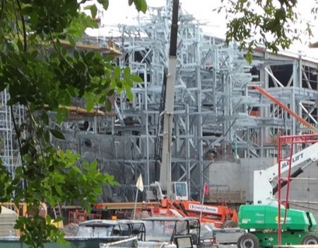 Avatar island attached to show building. Photo by J. Jeff Kober.