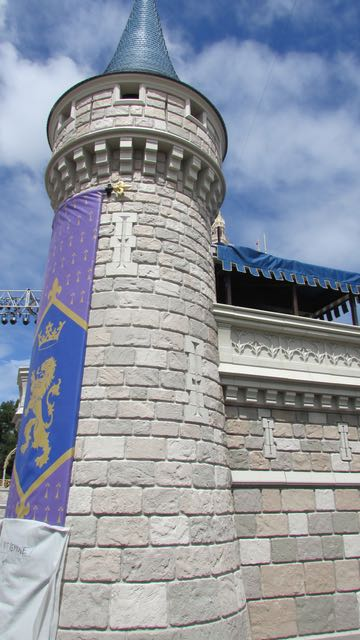 The show support tower to Cinderella Castle. Photo by J. Jeff Kober.