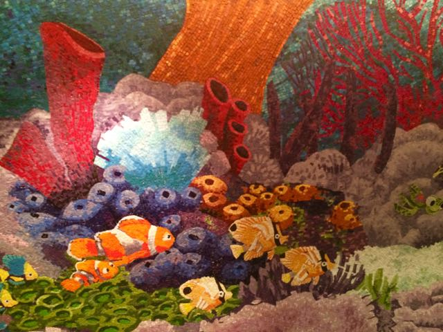 A colorful underwater world presented with mosaics. Photo by J. Jeff Kober.