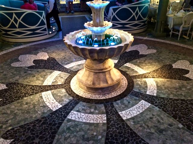 The Royal Garden on The Disney Fantasy. Photo by J. Jeff Kober.