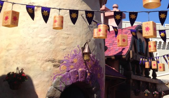 Rapunzel's own artistic touch marks the entrance to the ladies restroom. Photo by J. Jeff Kober.