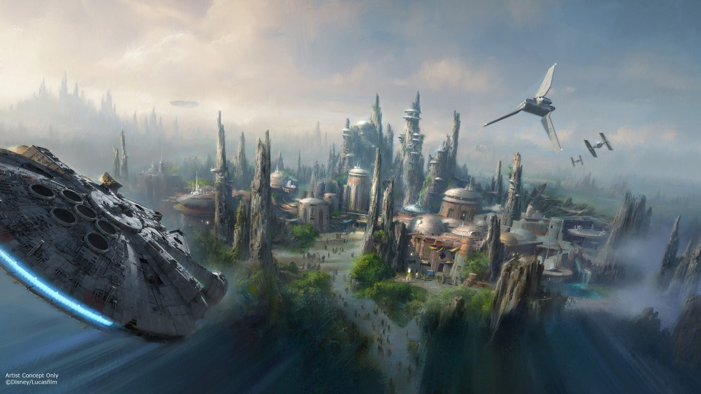 This illustration by Disney reflects the amount of room needed to build the new Star Wars Land.
