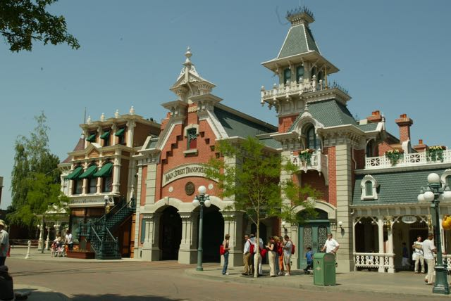 Town Square at Disneyland Paris, whose design was led by Eddie Sotto.