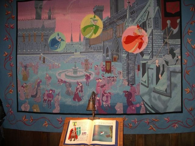 Pages from the storybook help to tell the stories shared by the tapestries. Photo by J. Jeff Kober.