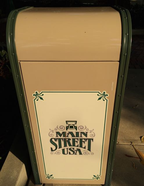 Trash Receptacle on Main Street, U.S.A. Photo by J. Jeff Kober.
