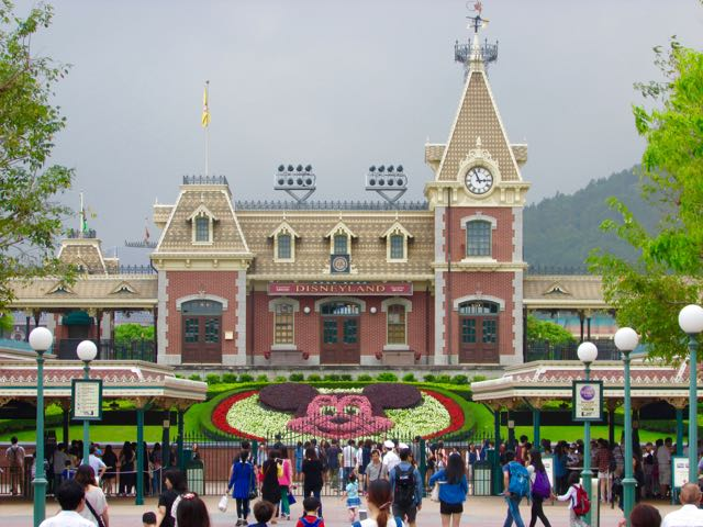 The way it looks, It almost feels like Disneyland when you first approach Hong Kong Disneyland--except for the big mountain in the back! Photo by J. Jeff Kober.