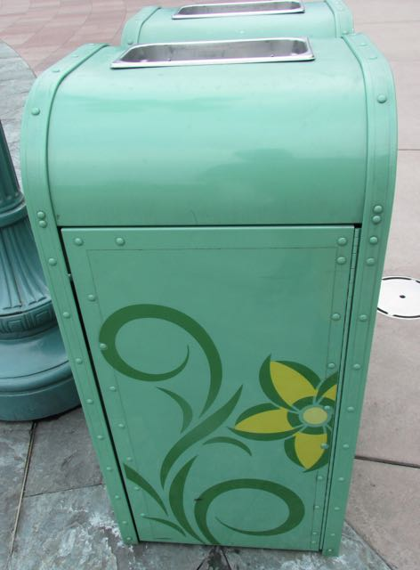 This trash receptacle is utilized around the entrance to the park. Photo by J. Jeff Kober.