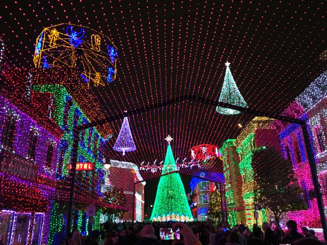 The lights in all its glory on The Streets of America. Photo by J. Jeff Kober.