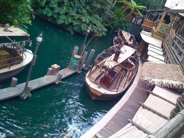 The Jungle Cruise dock today boarding guests for a wild adventure. Photo by J. Jeff Kober.