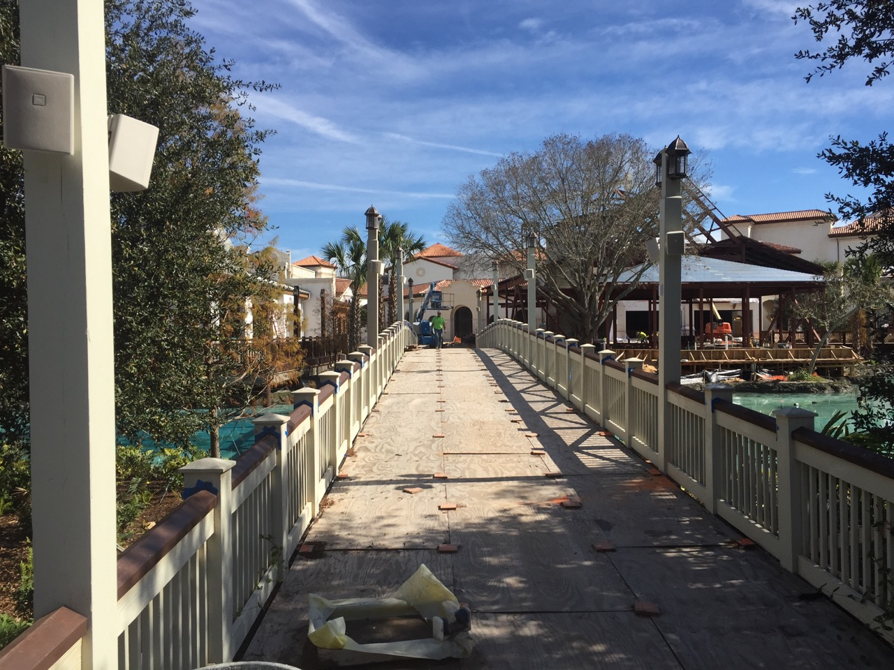 Here is a bridge that will connect some of the construction to the Morimoto dining area. Essentially, this bridge is a replacement to what was the main bridge to Pleasure Island. Photo by J. Jeff Kober.