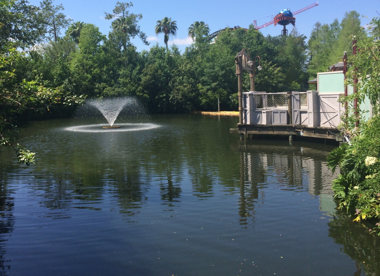 The previous lagoon in front of Pleasure Island as seen from its main bridge. Photo by J. Jeff Kober.