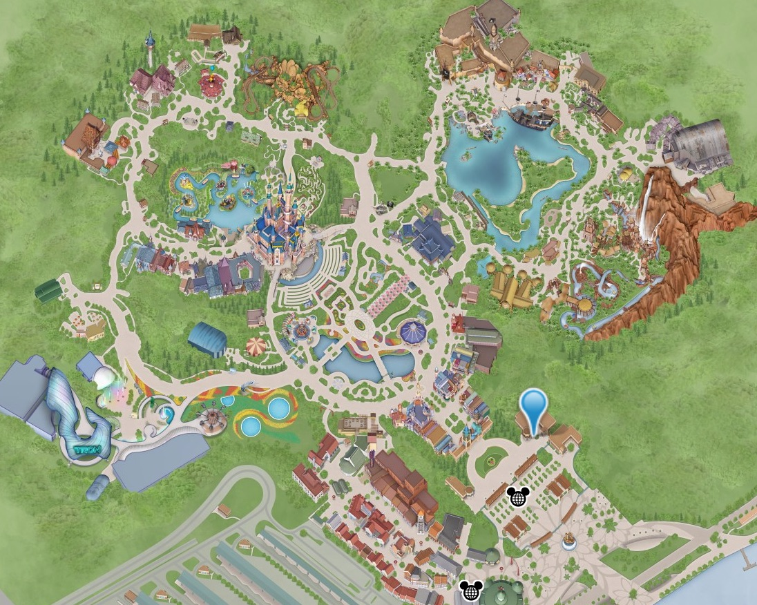 The newest map of the Shanghai Disneyland Park.