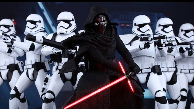 Warning: Supervisors never go undercover with their employees. Kylo Ren with fellow Storm Troopers.