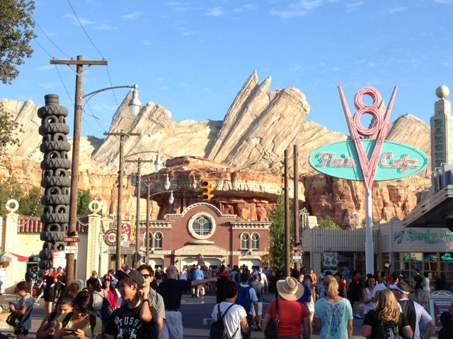 Carsland is one of the most immersive themed lands ever created by Disney. Photo by J. Jeff Kober.