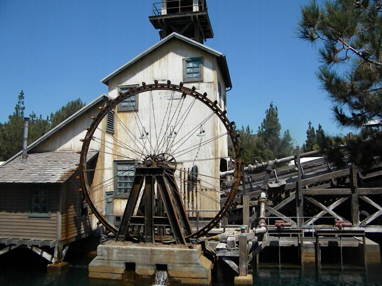 An aging mill cranks rafter's to the top of Grizzly Mountain for a ride down the rapids. Photo by J. Jeff Kober.