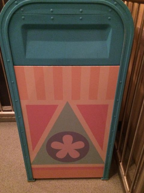 "Trash receptacles tailored to ""it's a small world."" Photo by J. Jeff Kober."