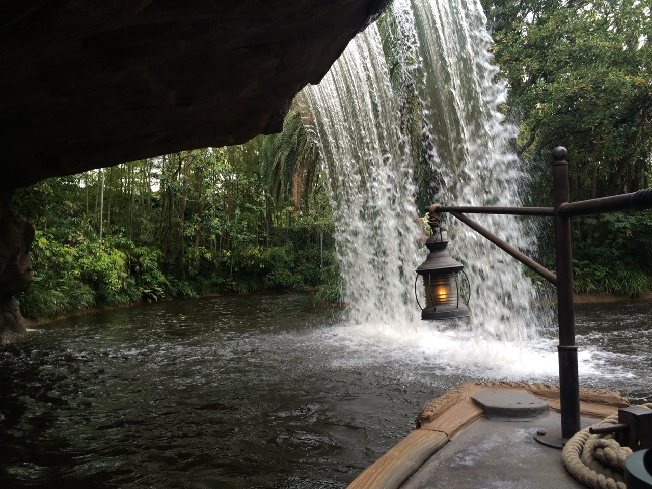 Backside of water at Jungle Cruise in Tokyo Disneyland. Photo by J. Jeff Kober.