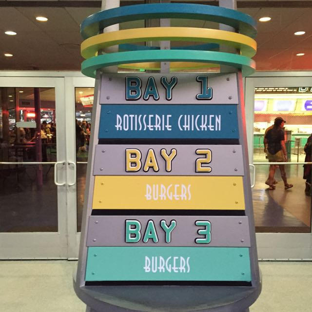 Bay 3 used to be Soups and Salads. I guess burgers are more popular. Photo by J. Jeff Kober.